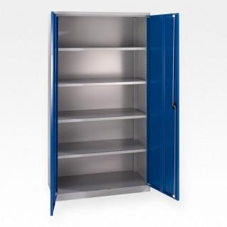 Skap MSI 2409 sølv/blå